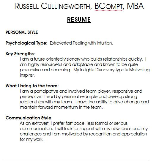 powerful resume