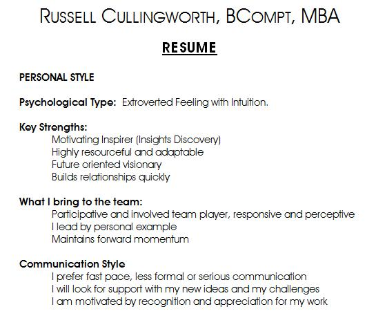 resume writing eqadvantage emotional intelligence